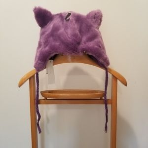 Accessory Collective Purple Winter Hat with Ears